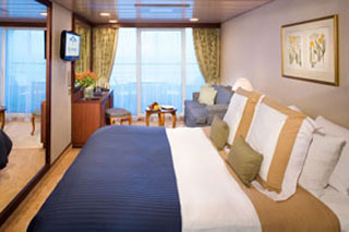 Club Veranda Stateroom on Azamara Quest