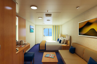 Oceanview cabin on Carnival Horizon