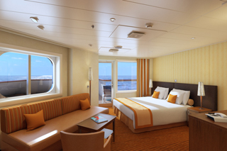 Suite cabin on Carnival Horizon
