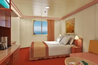 Oceanview cabin on Carnival Triumph