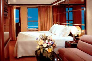 Suite cabin on Carnival Ecstasy