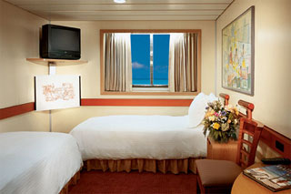 Oceanview cabin on Carnival Ecstasy