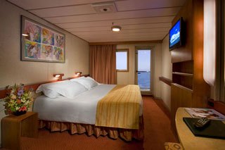 Balcony cabin on Carnival Ecstasy