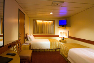 Inside cabin on Carnival Fantasy