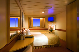 Oceanview cabin on Carnival Fantasy