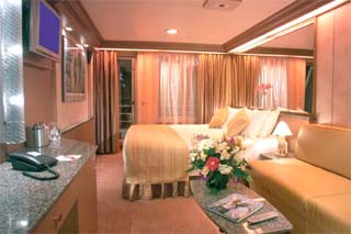 Suite cabin on Carnival Fascination