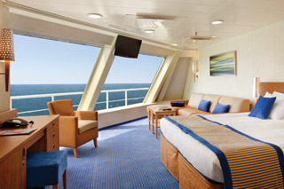 Oceanview cabin on Carnival Conquest