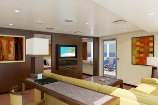 Suite cabin on Carnival Conquest