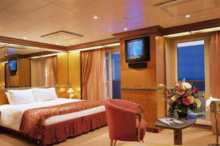 Suite cabin on Carnival Legend