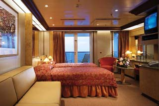 Premium Balcony Stateroom (obstructed view) on Carnival Legend
