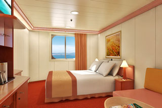 Oceanview cabin on Carnival Glory