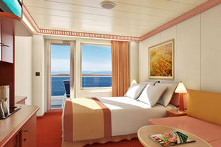 Balcony cabin on Carnival Glory