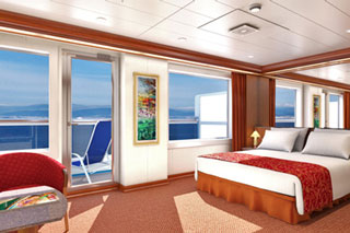 Suite cabin on Carnival Glory