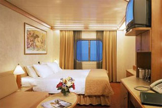 Oceanview cabin on Carnival Miracle