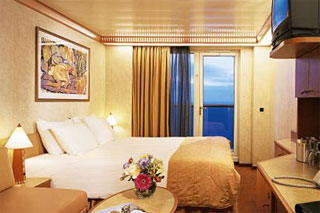 Balcony cabin on Carnival Miracle