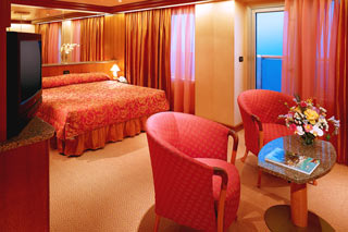 Suite cabin on Carnival Valor