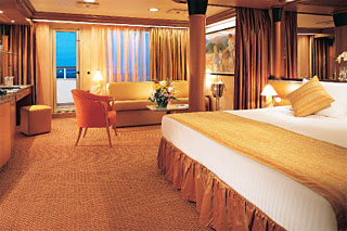 Suite cabin on Carnival Paradise