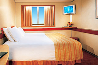 Oceanview cabin on Carnival Paradise