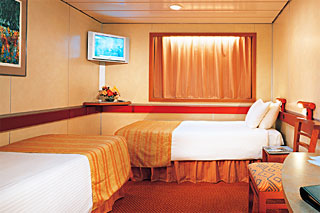 Inside cabin on Carnival Sensation