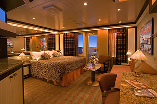 Suite cabin on Carnival Splendor