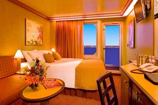 Balcony cabin on Carnival Splendor