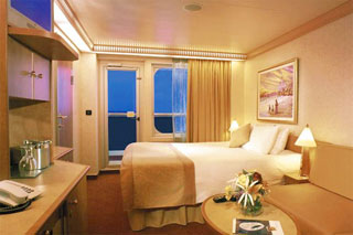 Balcony cabin on Carnival Splendor