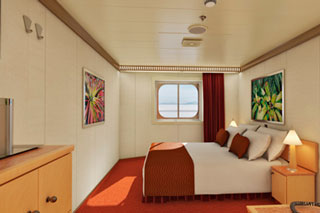 Inside cabin on Carnival Magic