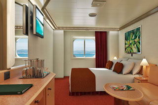 Oceanview cabin on Carnival Magic