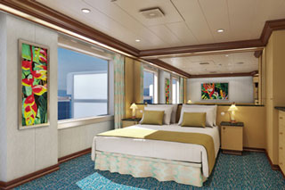 Suite cabin on Carnival Magic