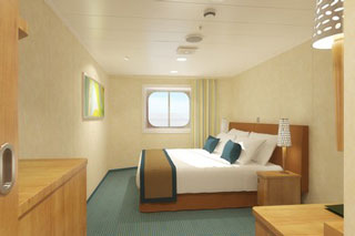 Inside cabin on Carnival Breeze