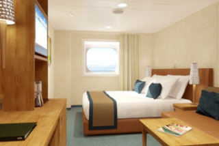 Oceanview cabin on Carnival Breeze