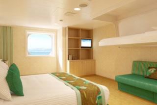 Oceanview cabin on Carnival Breeze