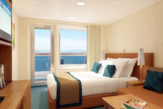 Balcony cabin on Carnival Breeze