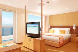 Suite cabin on Carnival Breeze