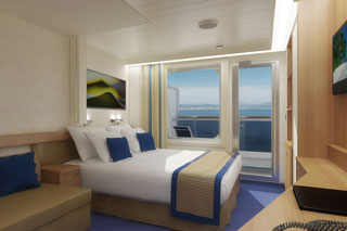 Balcony cabin on Carnival Sunshine