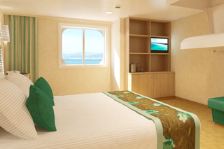 Oceanview cabin on Carnival Vista
