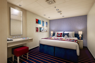 Inside cabin on Carnival Vista