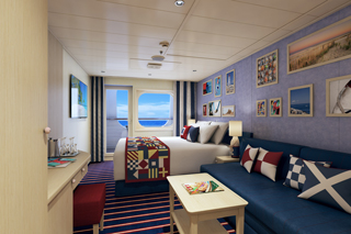 Balcony cabin on Carnival Vista