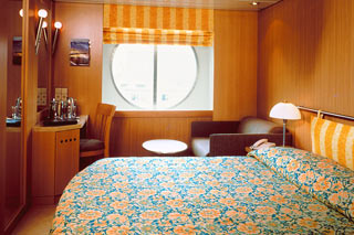Oceanview cabin on Celebrity Infinity