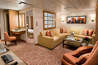 Suite cabin on Celebrity Solstice
