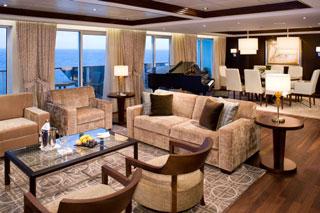 Suite cabin on Celebrity Solstice