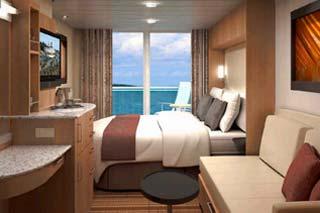 Balcony cabin on Celebrity Solstice