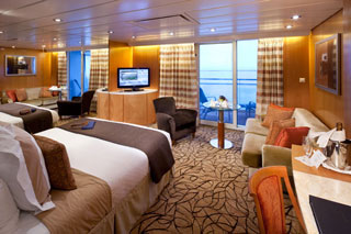 Suite cabin on Celebrity Millennium