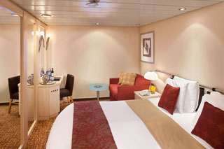 Inside cabin on Celebrity Summit