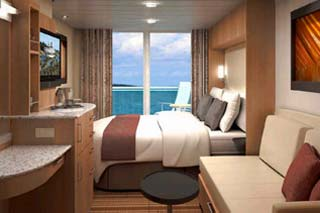 Balcony cabin on Celebrity Eclipse