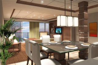 Suite cabin on Celebrity Eclipse