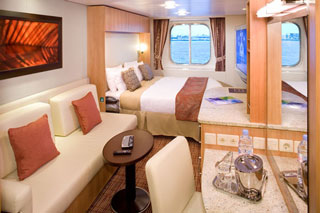 Oceanview cabin on Celebrity Silhouette