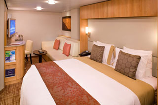 Inside cabin on Celebrity Silhouette