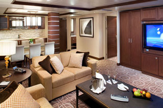 Suite cabin on Celebrity Silhouette
