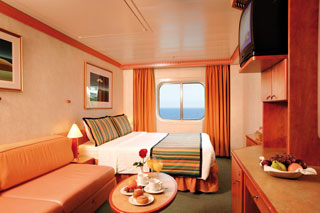 Oceanview cabin on Costa Mediterranea